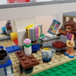 Wohnung aus Lego-Bausteinen