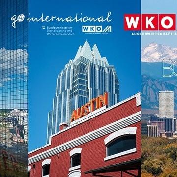Bildausschnitte der US-Städte Denver, Austin und Boulder