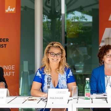 Podium: Pfarrhofer, Holzinger, Zehetner