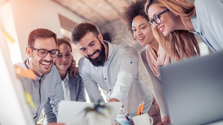 junge Unternehmer Besprechung