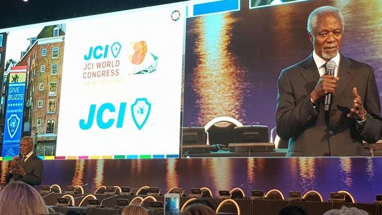 Kofi Annan spricht beim JCI Weltkongress 2017
